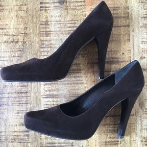 NWOT Beautiful Brown Suede Stuart Weitzman Pump 9